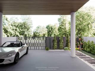 Ultra-Chic & Modern Comfort @ Lichi Avenue Singapore Carpentry Interior Design Pte Ltd Carport Concrete Grey