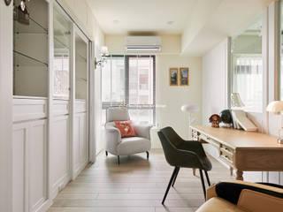 桃園 - 古典藝術宅 收藏「家」 趙玲室內設計 書房/辦公室