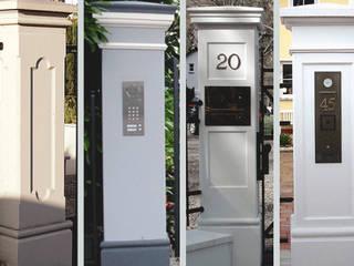 Tor-und Zaunpfeiler für ihr Gartentor und Gartenzaun TRAX-MATTHIES Säulen Balustraden Stuck Villa