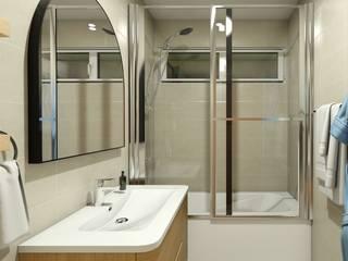 Gabi's Home Klassische Badezimmer Holznachbildung