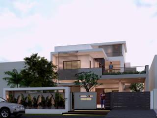 Ravi Prakash Architect Casa unifamiliare Cemento armato Bianco