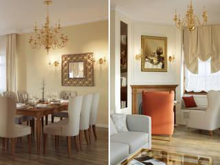 Студия дизайна интерьера 'Золотое сечение' Living room Beige