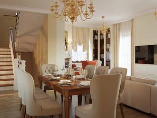 Студия дизайна интерьера 'Золотое сечение' Classic style dining room White