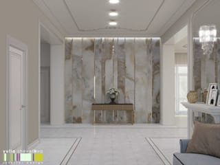 Мастерская интерьера Юлии Шевелевой Classic style corridor, hallway and stairs
