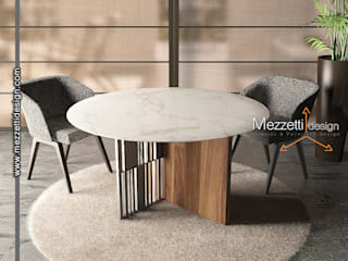 Mezzettidesign Dining roomTables Iron/Steel Wood effect
