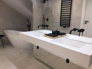 Umywalki z odpływem liniowym Luxum ŁazienkaUmywalki Biały