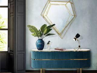 Oggettistica per casa moderna con blu indaco Essential Home Ingresso, Corridoio & Scale in stile moderno Blu