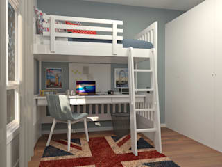 Oficina Rústica Nursery/kid's roomBeds & cribs Kayu White
