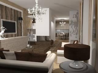 Interior Design Stefano Bergami Вітальня Дерево Білий