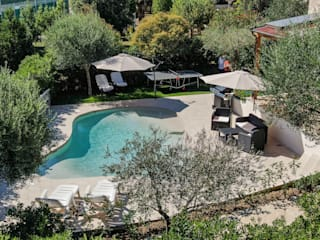 PISCINA NATURA POOL FORMA LIBERA PISCINE TECNOIMP Giardino con piscina PVC Bianco