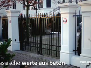 Tor-und Zaunpfeiler für ihr Gartentor und Gartenzaun TRAX-MATTHIES Säulen Balustraden Stuck Klassischer Garten Beton