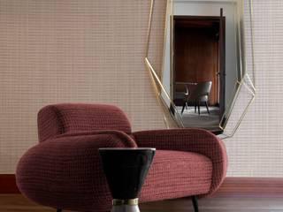 Cinque idee glamour per un ambiente rosa Essential Home Soggiorno moderno