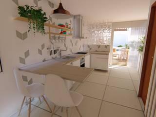 Diseño de Interiores - Casa unifamiliar. Luciane Gesualdi   arquitectura y diseño Cocinas integrales Azulejos Blanco