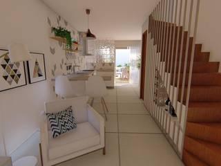 Diseño de Interiores - Casa unifamiliar. Luciane Gesualdi   arquitectura y diseño Escaleras Madera Acabado en madera
