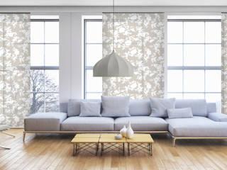 Schiebegardinen: Sonnenschutz mit schlankem Design Livoneo WohnzimmerAccessoires und Dekoration Beige