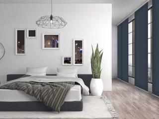 Schiebegardinen: Sonnenschutz mit schlankem Design Livoneo Fenster & TürFensterdekoration Blau
