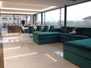 Villa in Italia - Brummel Brummel Soggiorno moderno Marmo Bianco