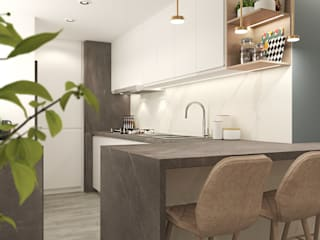 Proyecto SA Diaf design Cocinas equipadas Mármol Blanco