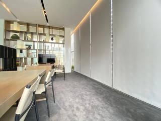辦公空間的完美提案 百葉簾.蜂巢簾.捲簾.斑馬簾 MSBT 幔室布緹 Modern Media Room Grey