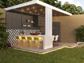 Proyecto CLM Diaf design Balcones y terrazas de estilo rústico