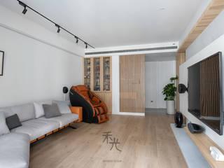 禾光室內裝修設計 ─ Her Guang Design 아시아스타일 거실 우드 그레인