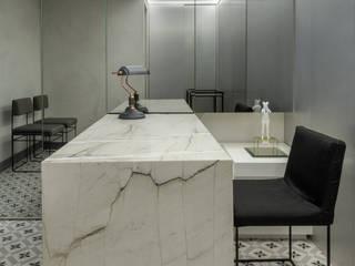 SAINZ arquitetura Moderne Praxen Marmor Weiß