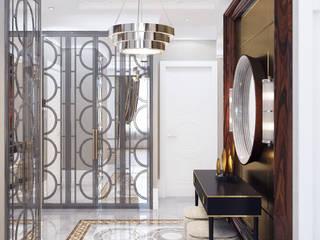 Архитектурная мастерская Бориса Коломейченко Modern Corridor, Hallway and Staircase