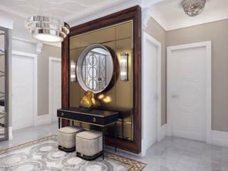 Архитектурная мастерская Бориса Коломейченко Modern Corridor, Hallway and Staircase Engineered Wood Beige