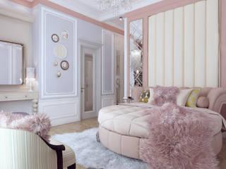Архитектурная мастерская Бориса Коломейченко Classic style bedroom Pink