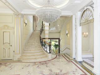 Архитектурная мастерская Бориса Коломейченко Classic style corridor, hallway and stairs Beige