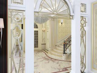 Архитектурная мастерская Бориса Коломейченко Classic style corridor, hallway and stairs