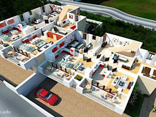 3D Floor Plans for Houses Design by Architectural Rendering Companies - Meridian, Idaho Yantram Architectural Design Studio