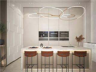 Singapore Carpentry Interior Design Pte Ltd Modern kitchen Marble White