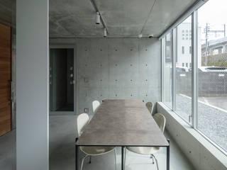 白島のアトリエ 吉田豊建築設計事務所 YUTAKA YOSHIDA ARCHITECT & ASSOCIATES モダンデザインの ダイニング