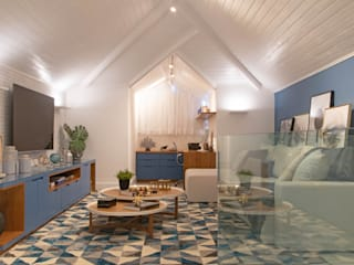 Sótão Multiuso Debiaze Arquitetura Salas multimídia modernas