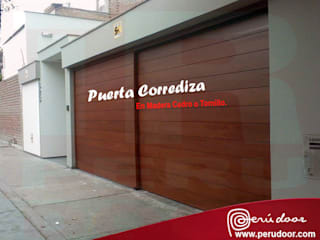 Puertas Automaticas - PERU DOOR Gym Wood-Plastic Composite Brown