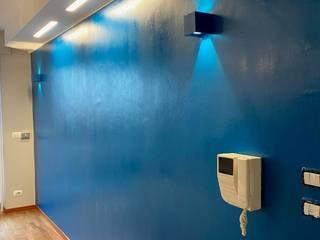 Il colore nei miei progetti Silvia Camporeale Interior Designer Pareti & Pavimenti in stile moderno Cemento Blu