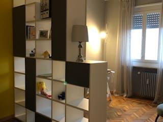 Silvia Camporeale Interior Designer Modern study/office MDF Grey