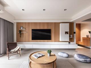 森叄設計 Гостиная в скандинавском стиле