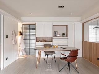 森叄設計 Столовая комната в скандинавском стиле