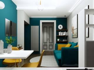 Silvia Camporeale Interior Designer Modern living room Engineered Wood Green