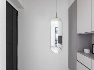 森叄設計 Коридор, прихожая и лестница в скандинавском стиле