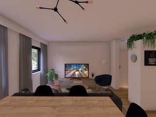 Reforma Integral - Piso Ciudad de los Angeles Luciane Gesualdi   arquitectura y diseño Salones de estilo moderno
