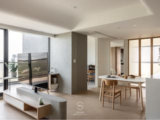 森叄設計 Гостиная в азиатском стиле