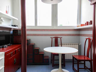 OPA Architetti Cocinas de estilo asiático Rojo