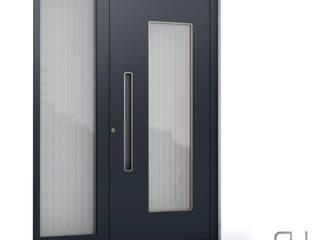 RK Exclusive Doors pintu depan Aluminium/Seng Black