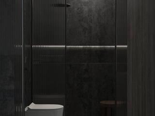 Nevi Studio Industrial style bathroom Stone Black