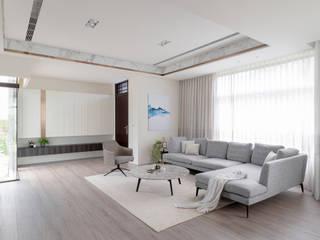 漢玥室內設計 Salas de estilo moderno Blanco