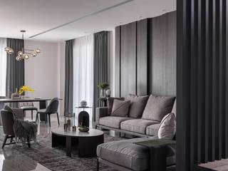 漢玥室內設計 Salas de estilo moderno Madera maciza Acabado en madera