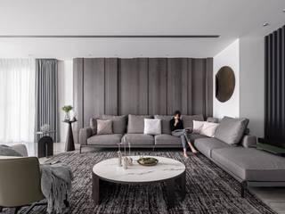 漢玥室內設計 Salas/RecibidoresSofás y sillones Lino Gris